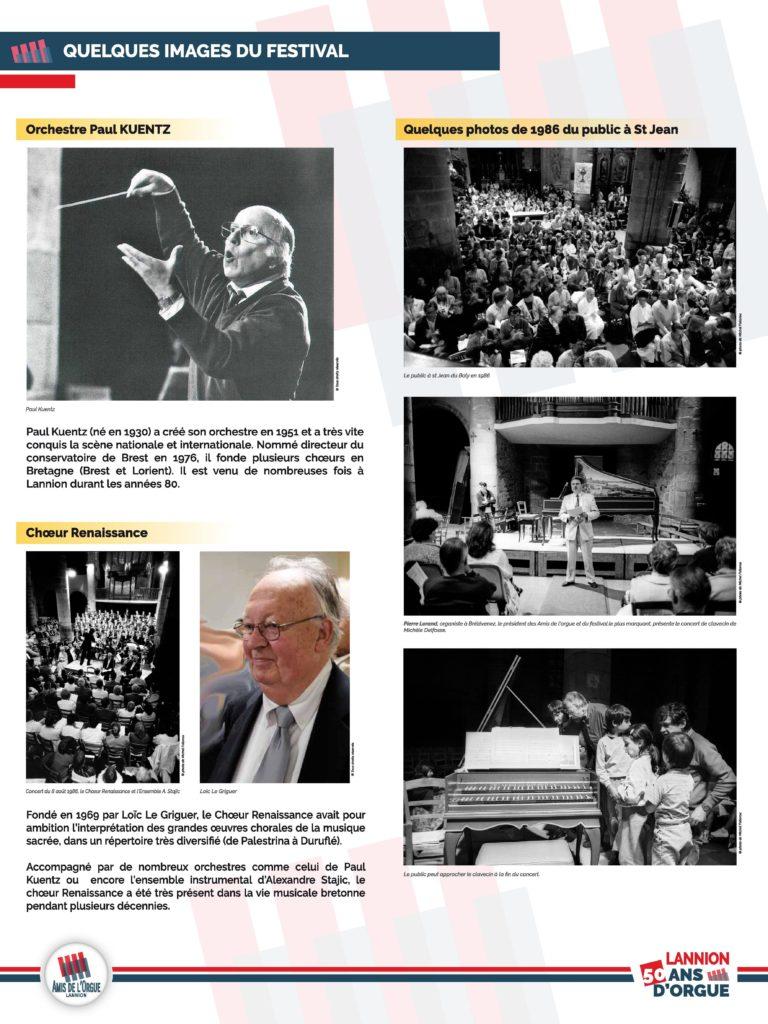 Panneau 4 : d'autres images du festival : Paul Kuentz, Loïc Le Griguer, public nombreux...