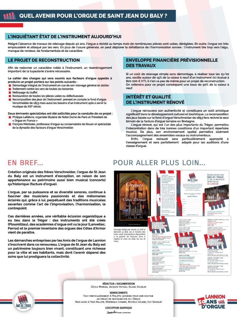 Panneau 6 : l'état inquiétant de l'orgue de Saint-Jean du Baly de Lannion et présentation du projet de reconstruction